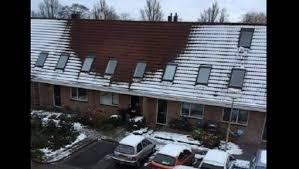geen sneeuw op dak